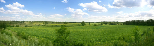 Free Summer Landscape Panorama Royalty Free Stock Image - 25159616