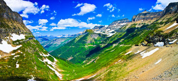 Summer landscape panorama, Glacier National Park Royalty Free Stock Images