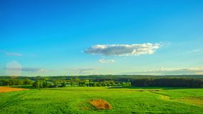 Summer landscape, panoramic timelapse stock footage