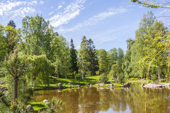 Summer Landscape. In The Park In Tallinn City ,Estonia Royalty Free Stock Photo