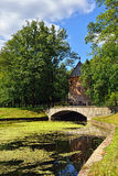 Summer landscape of the Pavlovsk garden, Pil-Tower pavilion. Royalty Free Stock Photography