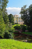 Summer landscape of the Pavlovsk garden, Russia. View to the pal Royalty Free Stock Images