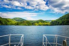 Summer landscape. Plitvice lakes. National park. Croatia Royalty Free Stock Image