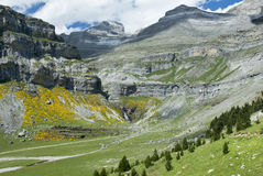 Summer landscape in the Pyrenees, Spain Royalty Free Stock Photo