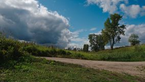 Summer landscape before a rain stock images