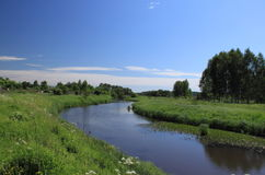 Summer landscape. With river in the Moscow region royalty free stock image