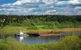 Summer landscape on the river Stock Photography
