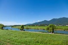Summer landscape of riverside Royalty Free Stock Photos