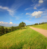 Summer landscape with road Royalty Free Stock Image