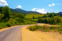 Summer landscape - road through mountains Stock Photo