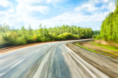 Summer landscape with road and sky Stock Photography