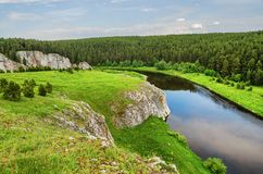 Summer landscape. Russia. Ural Stock Photography