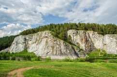 Summer landscape. Russia. Ural Royalty Free Stock Photography