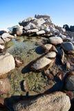 Summer landscape of rocky sea coast Royalty Free Stock Photos