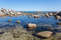 Summer landscape of rocky sea coast Stock Photo