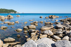 Summer landscape of rocky sea coast. Stock Photography