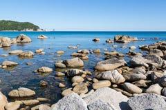 Summer landscape of rocky sea coast. Stock Photography