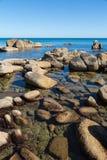 Summer landscape of rocky sea coast. Stock Image