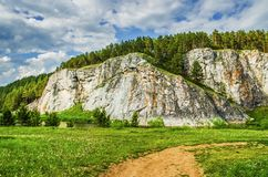 Summer landscape. Russia. Ural Royalty Free Stock Photos