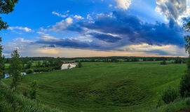 Summer landscape, Russian field, the river Royalty Free Stock Photos