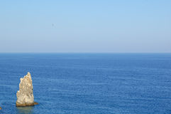 Summer Landscape with Sea and Rock. Southern Coast of Crimea, Ukraine Stock Photography