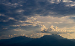 Summer landscape showing mountain Olymp mountain range Stock Images