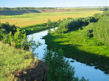 Summer landscape. Small river Royalty Free Stock Photography