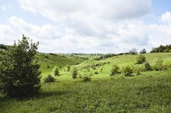 Summer landscape space. Beautiful summer landscape panorama space stock images