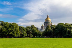 Summer landscape of St. Petersburg, Russia Stock Photo
