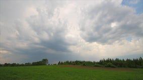 Summer landscape, storm clouds, time-lapse stock video