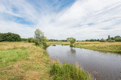 Summer landscape with a streaming river Stock Images