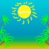 Summer landscape sun and clear skies with a sea Royalty Free Stock Photography