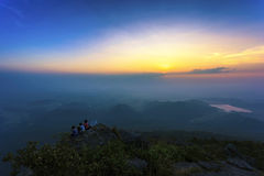 Summer landscape sunrise in the mountain Royalty Free Stock Photography