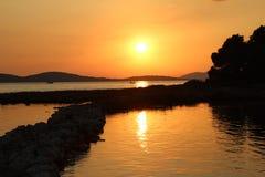 Sunset on the Adriatic Sea. Summer Landscape / Sunset on the Adriatic Sea Stock Images