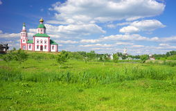 Summer landscape in Suzdal Royalty Free Stock Photo