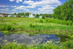 Summer landscape in Suzdal Royalty Free Stock Image