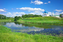 Summer landscape in Suzdal Royalty Free Stock Images