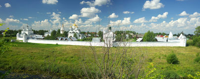 Summer landscape in Suzdal Royalty Free Stock Photos