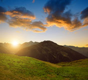Summer landscape in Switzerland Alps Royalty Free Stock Photography