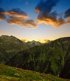 Summer landscape in Switzerland Alps Stock Photo
