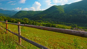 Summer landscape. timelapse. 4K. FULL HD, 4096x2304. Royalty Free Stock Photo
