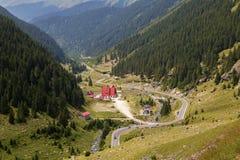 Summer landscape of Transfagarasan highway Royalty Free Stock Image