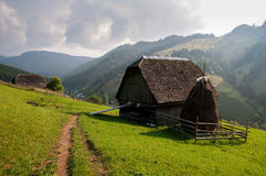 Summer Landscape. In the transylvanian hills, at Moeciu, Brasov Stock Image