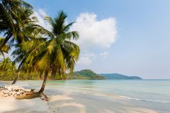 Tropical landscape of Koh Kood. Summer landscape on tropical koh Kood island  in Thailand. Landscape with sea taken on Ao Yak beach Stock Photo