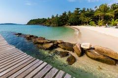 Tropical landscape of Koh Kood. Summer landscape on tropical koh Kood island in Thailand. Landscape with sea taken on Klong Mard Stock Photo