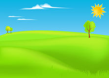 Summer landscape vector Royalty Free Stock Photography