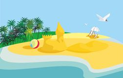 Summer landscape in vector Stock Photos