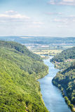Summer Landscape View of River Saar Stock Photos
