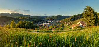 Summer landscape with village, Slovakia.  Royalty Free Stock Photography