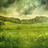Summer landscape with vintage colors Royalty Free Stock Photo